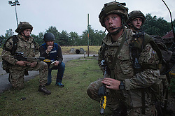 Image shows Officer Cadets from Royal Military Academy Sandhurst (RMAS) participating in Exercise Templar's Triumph on Longmoor Training Area.<br /> <br /> 20/06/2016<br /> Credit should read: Cpl Mark Larner RY<br /> <br /> Exercise Templar's Triumph is the second of three accumulative confirmation exercises of the 44 week commissioning course; it tests the cadets suitability to become junior officers in the field army. The skills and drills the Officer Cadets have learned over the previous terms are brought together, forcing the cadets to work in an arduous environment whislt thinking about more than just basic soldiering.