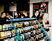 Marilyn Manson fans at a signing in the Virgin Megastore, London, 2001.