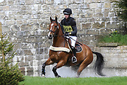 Alex Colborn riding Freshmans Pink Floyd during the International Horse Trials at Chatsworth, Bakewell, United Kingdom on 12 May 2018. Picture by George Franks.