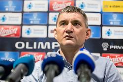 Marijan Pusnik at press conference of NK Olimpija Ljubljana about new head coach Marijan Pusnik, on March 9, 2017 in Austria Trend Hotel, Ljubljana, Slovenia. Photo By Matic Klansek Velej / Sportida