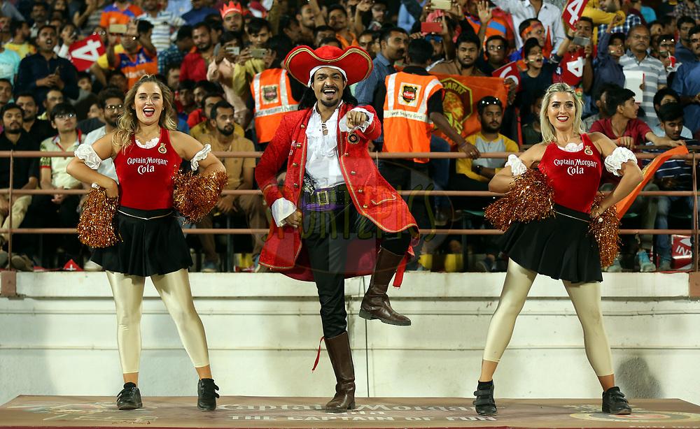 Royal Challengers Bangalore Cheer Girls performs during match 20 of the Vivo 2017 Indian Premier League between the Gujarat Lions and the Royal Challengers Bangalore  held at the Saurashtra Cricket Association Stadium in Rajkot, India on the 18th April 2017<br /> <br /> Photo by Sandeep Shetty - Sportzpics - IPL