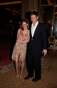 ( Mrs. Ben) Sheherazade Goldsmith and Zac Goldsmith,  Annabel, An Unconventional Life. Memoirs of Lady Annable goildsmith. The Ritz. 10 March 2004. ONE TIME USE ONLY - DO NOT ARCHIVE  © Copyright Photograph by Dafydd Jones 66 Stockwell Park Rd. London SW9 0DA Tel 020 7733 0108 www.dafjones.com