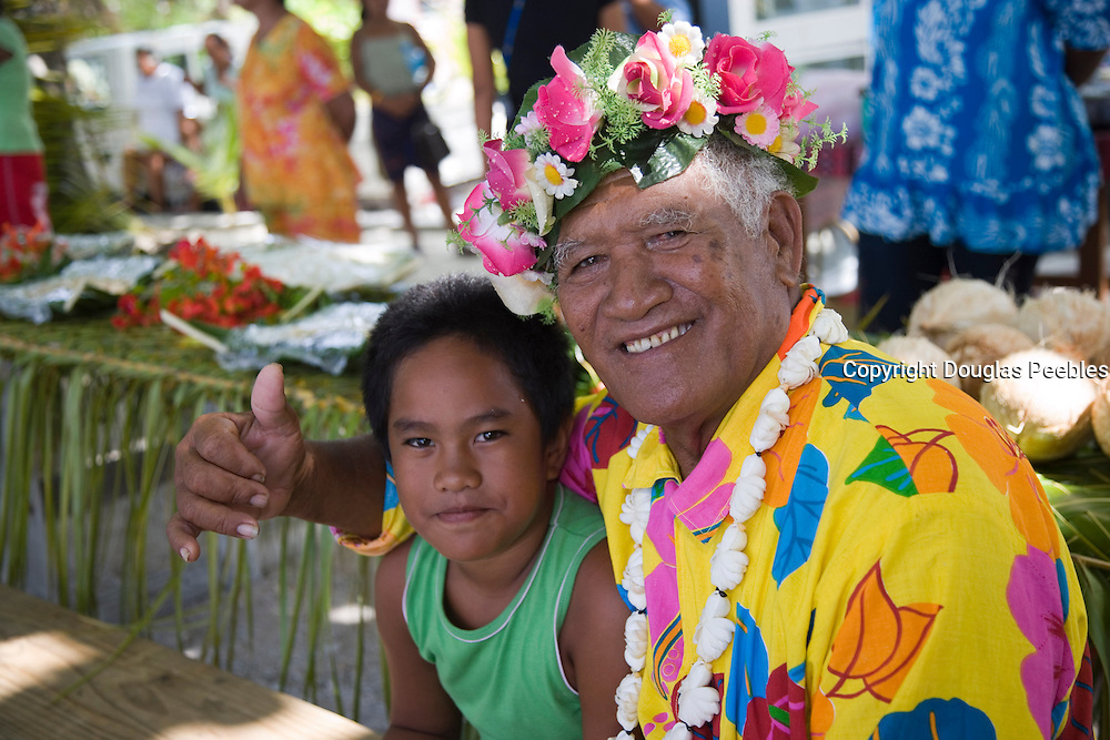 Welcome, Takapoto, Tuamotu Islands, French Polynesia, (Editorial use only)<br />
