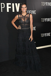Image ©Licensed to i-Images Picture Agency. 03/12/2014. New York, United States. Rosario Dawson at the premiere of Top Five at The Ziegfeld Theater in New York City. Picture by Face to Face / i-Images<br /> UK ONLY