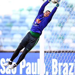 DURBAN, SOUTH AFRICA - SEPTEMBER 03: Reyaad Pieterse Goalkeeper during the South Africa national mens soccer team training session at Moses Mabhida Stadium on September 03, 2017 in Durban, South Africa. (Photo by Steve Haag/Gallo Images)