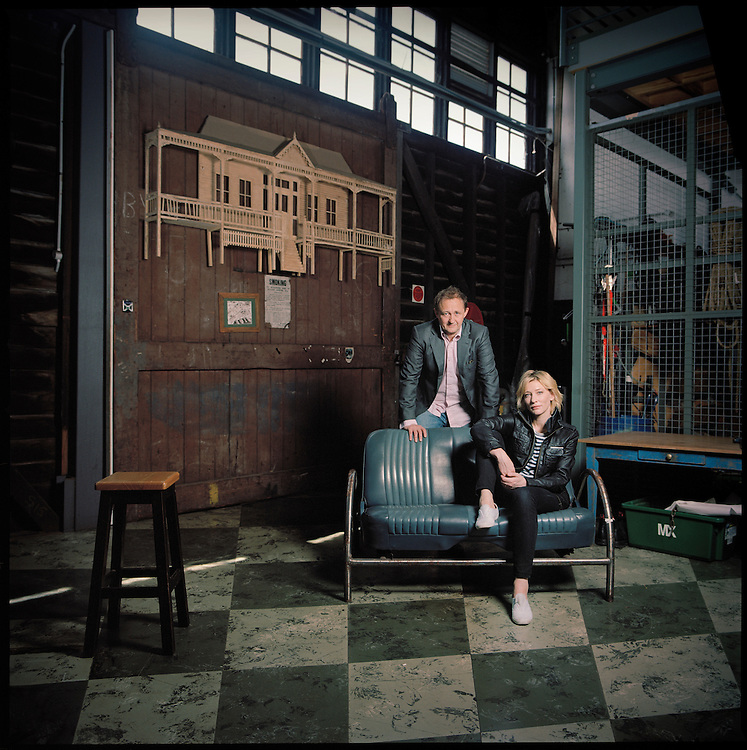Artistic directors of the Sydney Theatre Company, Australian Actress Cate Blanchett and her husband, playwright and screenwriter, Andrew Upton..Photographed at the Sydney Theatre and backstage at the Sydney Theatre Company.