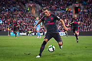 July 13 2017: Arsenal player Mesut Ozil (11) takes the ball downfield at the International soccer match between English Premier League giants Arsenal and A-League premiers Sydney FC at ANZ Stadium in Sydney.