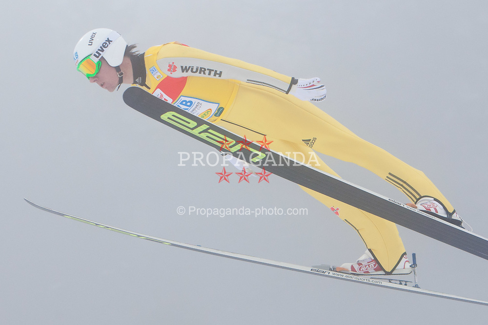11.12.2011, Ramsau am Dachstein, AUT, FIS Nordische Kombination, Ski Sprung, im Bild Probedurchgang Tino Edelmann (GER) // Tino Edelmann of Germany during Trial RoundSki jumping at FIS Nordic Combined World Cup in Ramsau, Austria on 2011/12/11. EXPA Pictures © 2011, PhotoCredit: EXPA/ Johann Groder