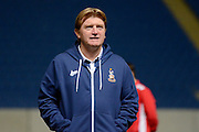 Bradford City Manager Stuart McCall during the EFL Trophy quarter final match between Oxford United and Bradford City at the Kassam Stadium, Oxford, England on 24 January 2017. Photo by Alan Franklin.