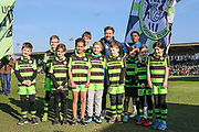 FGR ambassadors during the EFL Sky Bet League 2 match between Forest Green Rovers and Crawley Town at the New Lawn, Forest Green, United Kingdom on 24 February 2018. Picture by Shane Healey.