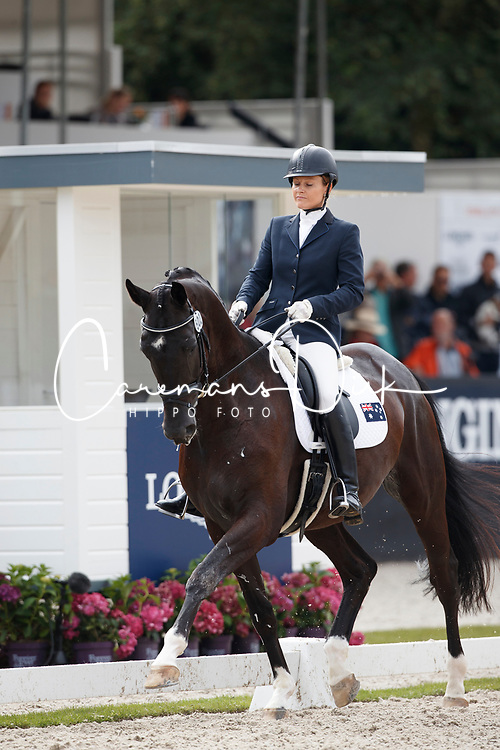 Rooke Rebecca, AUS, Muschamp Royal Black<br /> Longines FEI/WBFSH World Breeding Dressage Championships for Young Horses - Ermelo 2017<br /> © Hippo Foto - Dirk Caremans<br /> 03/08/2017