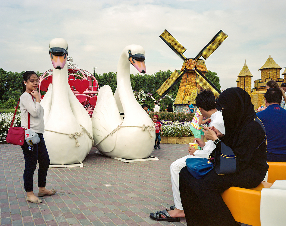 APRIL 2016: Miracle Gardens is a flower garden in Dubailand.