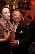 Tessa Dahl and Dai Llewellen, Nick Foulkes biography of Count D'Orsay, Love of the Dandies  party, Dunhill, Jermyn St. 3 June 2003. © Copyright Photograph by Dafydd Jones 66 Stockwell Park Rd. London SW9 0DA Tel 020 7733 0108 www.dafjones.com