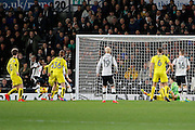 Derby County striker Darren Bent (11) misses a chance in front of an open goal (0-0) during the EFL Sky Bet Championship match between Derby County and Burton Albion at the Pride Park, Derby, England on 21 February 2017. Photo by Richard Holmes.