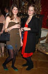 Left to right, PRINCESS FLORENCE and ALICE ROTHSCHILDVON PREUSSEN at a fashion show featuring the Miss Selfridge Autumn/Winter '05 collections held at The Wallace Collection, Manchester Square, London W1 on 6th April 2005.<br />