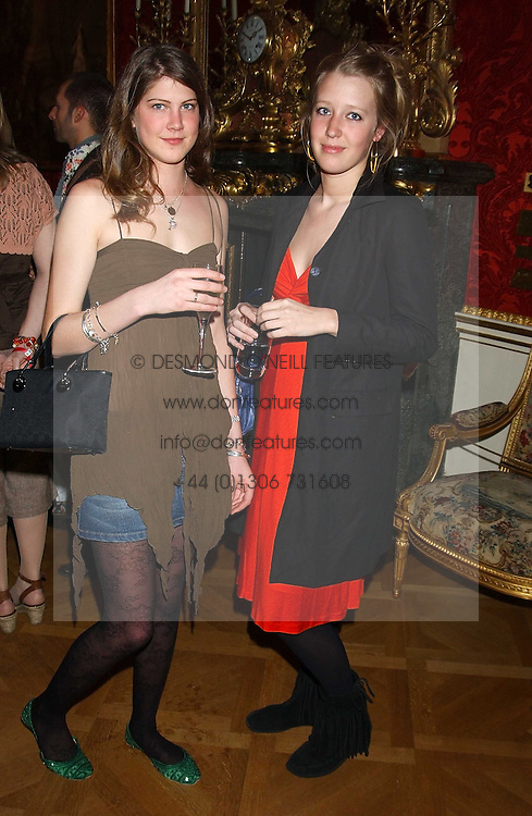 Left to right, PRINCESS FLORENCE and ALICE ROTHSCHILDVON PREUSSEN at a fashion show featuring the Miss Selfridge Autumn/Winter '05 collections held at The Wallace Collection, Manchester Square, London W1 on 6th April 2005.<br /><br />NON EXCLUSIVE - WORLD RIGHTS