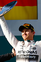 ROSBERG nico (ger) mercedes gp mgp w06 ambiance portrait podium ambiance   during 2015 Formula 1 championship at Melbourne, Australia Grand Prix, from March 13th to 15th. Photo DPPI / Frederic Le Floch.
