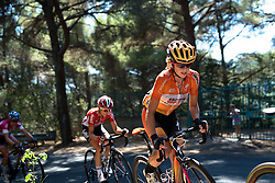 Evelyn Stevens (Boels Dolmans) takes on the final climb at Giro Rosa 2016 - Stage 6. A 118.6 km road race from Andora to Alassio, Italy on July 7th 2016.
