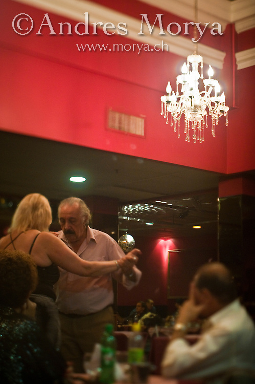 Tango Dancers in the Milonga Boedo, Buenos Aires, Argentina Image by Andres Morya