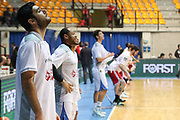 Team Cantù durante il riscaldamento, Red October Cantù vs VL Pesaro - 12 giornata Campionato LBA 2017/2018, PalaDesio Desio 26 dicembre 2017 - foto BERTANI/Ciamillo