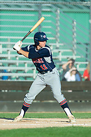 KELOWNA, BC - JULY 17: Connor Kiffer #11 of the Wenatchee Applesox steps up to plate against the Kelowna Falcons  at Elks Stadium on July 17, 2019 in Kelowna, Canada. (Photo by Marissa Baecker/Shoot the Breeze)