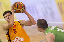 Vlado Ilievski of Macedonia  during friendly match between National teams of Slovenia and Republic of Macedonia for Eurobasket 2013 on July 28, 2013 in Litija, Slovenia. Slovenia defeated Macedonia 63-54. (Photo by Vid Ponikvar / Sportida.com)