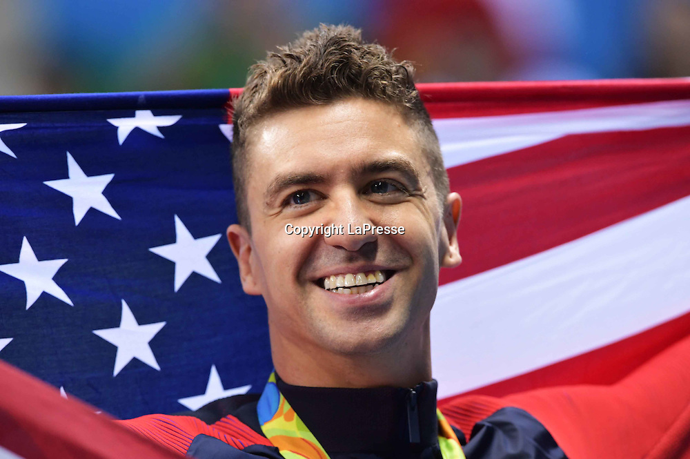 Foto  LaPresse/  Gian Mattia D'Alberto<br /> 13-08-2016  Rio de Janeiro<br /> sport<br /> Giochi Olimpici Rio 2016 - nuoto <br /> nella foto:  ERVIN Anthony USA, medaglia d'oro 50 sl<br /> <br /> Photo LaPresse/ Gian Mattia D'Alberto<br /> 13-08-2016  Rio de Janeiro<br /> Rio 2016 Olympic  Games - swimming<br /> In the picture:  ERVIN Anthony USA, 50 fs gold medal