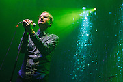The National performs for the New York Magazine 40th Anniversary party at Hammerstein Ballroom in New York City, October 10, 2008.