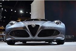 09 February 2017: Alfa Romeo 4C<br /> <br /> First staged in 1901, the Chicago Auto Show is the largest auto show in North America and has been held more times than any other auto exposition on the continent.  It has been  presented by the Chicago Automobile Trade Association (CATA) since 1935.  It is held at McCormick Place, Chicago Illinois<br /> #CAS17