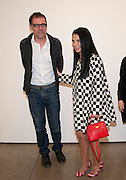 DEXTER DALWOOD; MARY BOONE, David Salle private view at the Maureen Paley Gallery. 21 Herlad St. London. E2. <br /> <br />  , -DO NOT ARCHIVE-&copy; Copyright Photograph by Dafydd Jones. 248 Clapham Rd. London SW9 0PZ. Tel 0207 820 0771. www.dafjones.com.