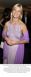 The MARCHIONESS OF MILFORD-HAVEN, at a ball in London on 15th May 2001.		OOE 90