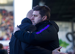 Burnley manager Sean Dyche (L) and Tottenham Hotspur manager Mauricio Pochettino- Mandatory by-line: Jack Phillips/JMP - 23/02/2019 - FOOTBALL - Turf Moor - Burnley, England - Burnley v Tottenham Hotspur - English Premier League