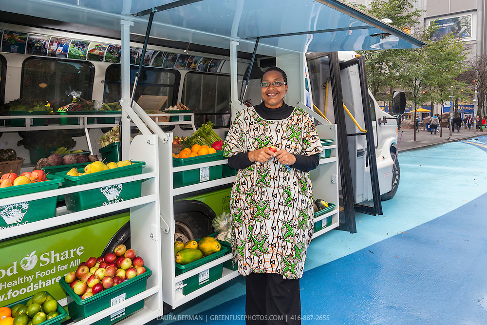 Afua Asantewaa, coordinator of FoodShare's Mobile Good Food Market