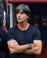 FUSSBALL WM 2018  Vorrunde Gruppe F  17.06.2018 Deutschland - Mexiko Trainer Joachim Loew (Deutschland) nachdenklich