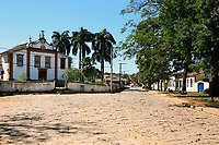 view of the typical village of tiradente in minas gerais state in brazil
