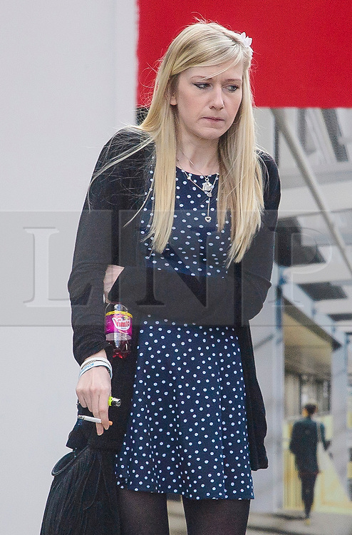 © Licensed to London News Pictures. 03/04/2017. London, UK. CONNIE YATES arrives at the The Royal Courts of Justice in London where a High Court judge is due to rule whether doctors can withdraw life-support treatment to her son, Charlie, who suffers from a rare genetic condition. Doctors at Great Ormond Street Hospital in London say eight-month-old Charlie should be left to die in dignity, but his parents have raised £1.2 million for specialist treatment in America.  Photo credit: Ben Cawthra/LNP