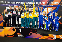 Team USA, Team Australia, Team GB USA, AUS, GBR at 2015 IPC Swimming World Championships -  Women's 4x100m Freestyle Relay 34PT