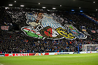 Football - 2019 / 2020 UEFA Europa League - Round of Thirty-Two, First Leg: Rangers vs. Sporting Braga<br /> <br /> A banner is displayed by Rangers fans at Ibrox Stadium.<br /> <br /> COLORSPORT/BRUCE WHITE