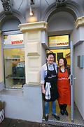 Vienna, Austria. Kiang Winebar.<br /> Joseph and Li Chen Kiang.