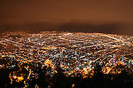 A night view of Bogata, Colombia from the 10,000 foot Monserrate.