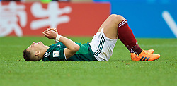 MOSCOW, RUSSIA - Sunday, June 17, 2018: Mexico's Javier Hernandez during the FIFA World Cup Russia 2018 Group F match between Germany and Mexico at the Luzhniki Stadium. (Pic by David Rawcliffe/Propaganda)