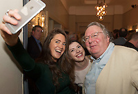 Linda Breathnach, Actress, Emma Regan Actress  and  James Harrold City Arts Officer   at the launch of the Galway International Arts Festival programme at the Gaslight Bar, Hotel Meyrick. The Festival will run from the 11th to the 24th of July 2016 . Photo:Andrew Downes