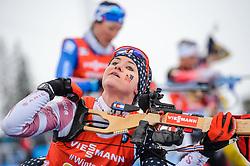 March 16, 2019 - –Stersund, Sweden - 190316 Joanne Reid of USA competes in the Women's 4x6 km Relay during the IBU World Championships Biathlon on March 16, 2019 in Östersund..Photo: Petter Arvidson / BILDBYRÃ…N / kod PA / 92268 (Credit Image: © Petter Arvidson/Bildbyran via ZUMA Press)