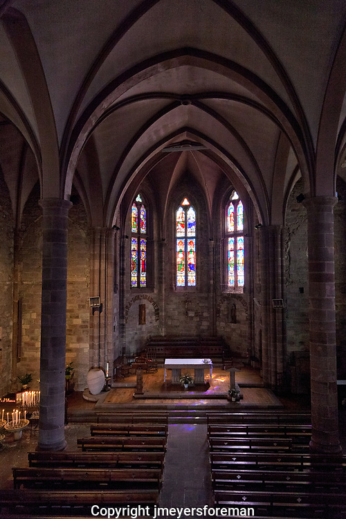 Eglise de Notre Dame, 14 century church, pilgrim,