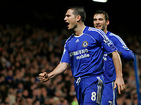 Photo: Tom Dulat/Sportsbeat Images.<br /> <br /> Chelsea v Sunderland. The FA Barclays Premiership. 08/12/2007.<br /> <br /> Chelsea's Frank Lampard (L) and Andriy Shevchenko (R) celebrate Lampards penalty kick. Chelsea leads 2-0.