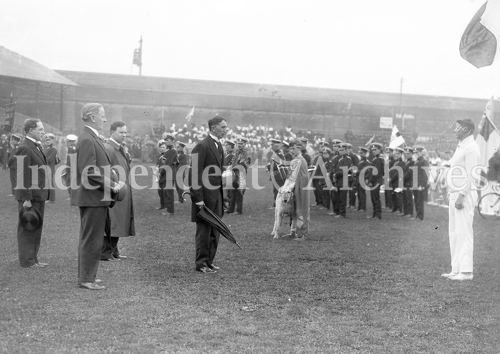 Opening of Tailteann Games. <br /> 1928<br />  (Part of the Independent Newspapers Ireland/NLI Collection)