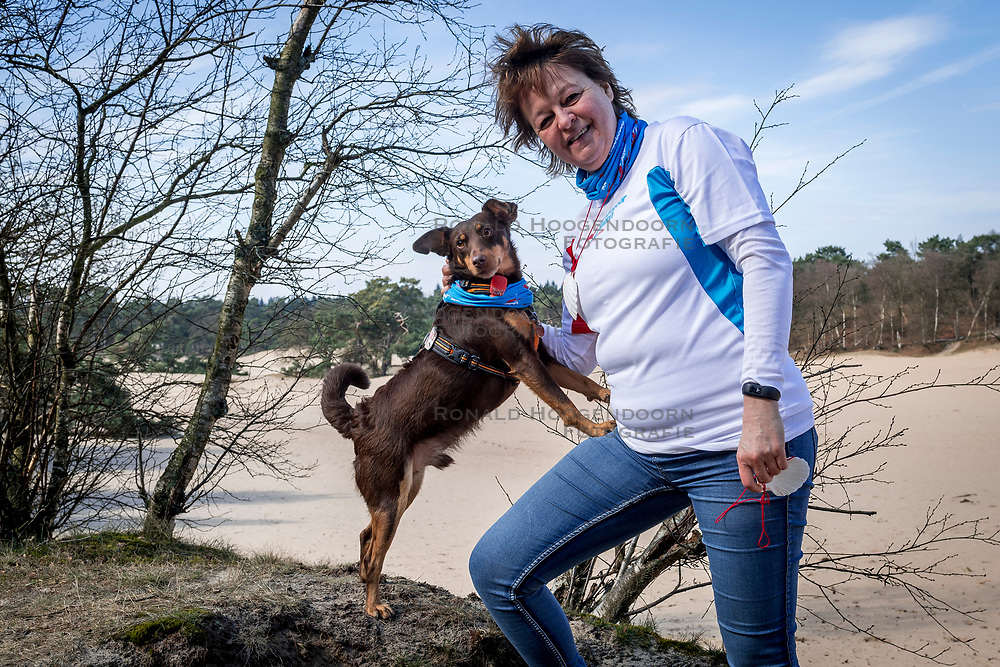 18-03-2018 NED: We hike to change diabetes, Soest<br /> Training voor de Camino 2018 op de Soesterduinen / Belder en IJda