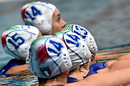 Italian players during the training <br /> Trieste 14/01/2019 Centro Federale B. Bianchi <br /> Women's FINA Europa Cup 2019 water polo<br /> Italy ITA - Nederland NED <br /> Foto Andrea Staccioli/Deepbluemedia/Insidefoto