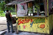 Food kiosk in Costa Rica, Guantanamo Province, Cuba.