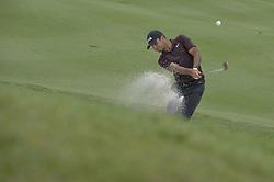 October 14, 2018 - Kuala Lumpur, Malaysia - Shubhankar Sharma of India plays a bunker shot during the final round of CIMB Classic golf tournament in Kuala Lumpur, Malaysia on October 14, 2018. (Credit Image: © Zahim Mohd/NurPhoto via ZUMA Press)